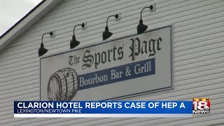 Clarion Hotel Reports Case Of Hep A
