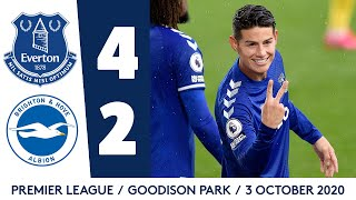 EVERTON 4-2 BRIGHTON   JAMES RODRIGUEZ AT THE DOUBLE!   PREMIER LEAGUE HIGHLIGHTS