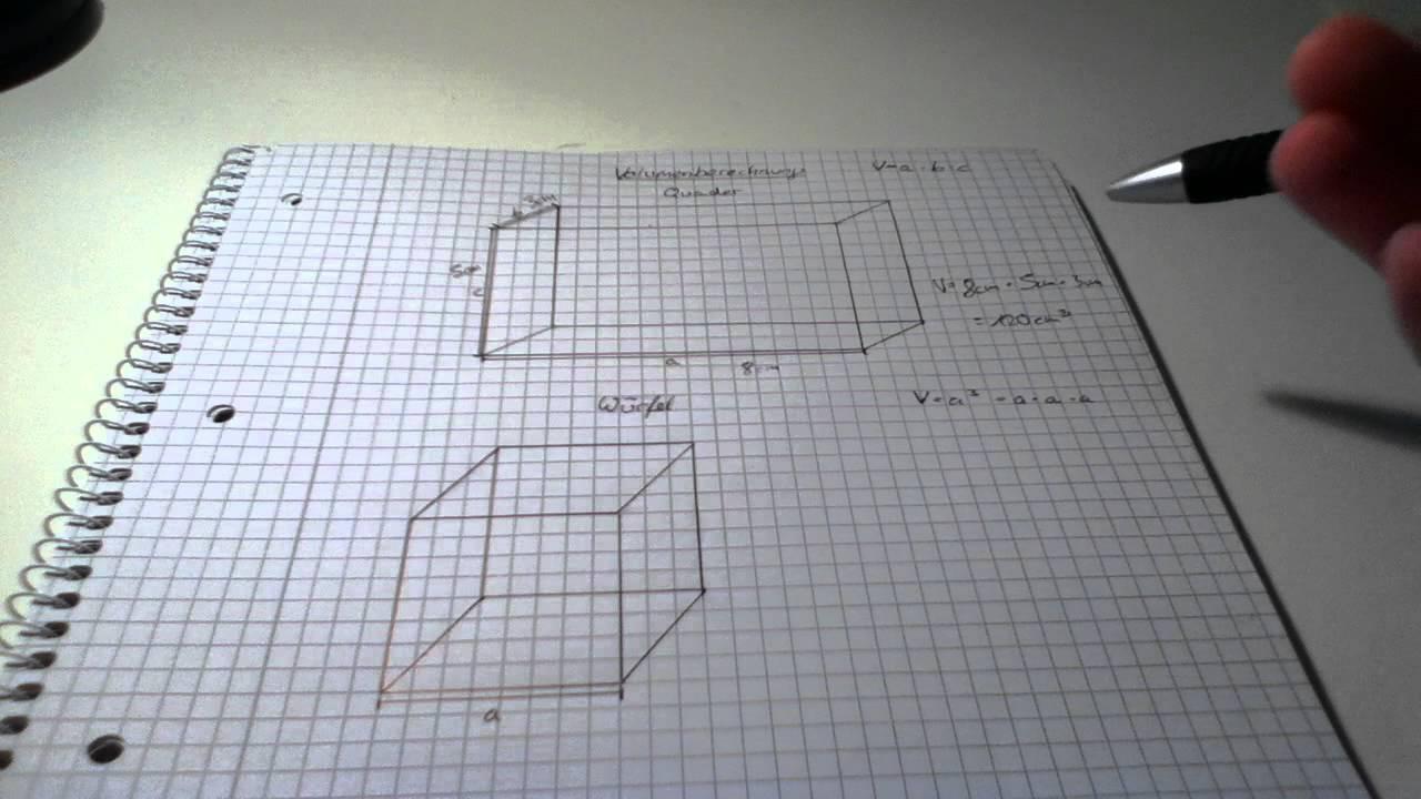 volumen eines quaders und eines w rfels berechnen mathe. Black Bedroom Furniture Sets. Home Design Ideas