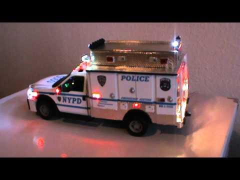 1 18 Nypd Esu Truck With Full Lights Amp Siren Custom Made