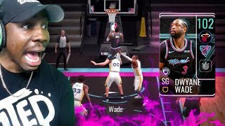 102 OVR WADE JUMPS OVER OPPONENT! (NBA $$ Giveaway) NBA Live Mobile 19 Season 3 Ep. 68