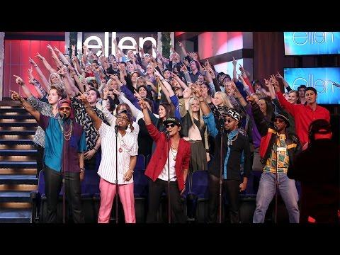 Ellen's Favorite Moments: Mark Ronson and Bruno Mars Perform 'Uptown Funk'