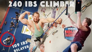 BODYBUILDER TRIES CLIMBING + NINJA WARRIOR | #143