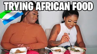 Trying African food for the first time!!!!!
