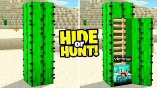 I made a SECRET CACTUS Minecraft Base (Hide Or Hunt)