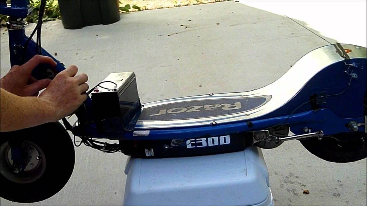 36v Modified Razor E300 Stock Controller Amp Motor Youtube