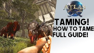 Atlas: HOW TO TAME!! Guide  To Taming ANY Animal You Want!! Tigers, Lions, Horses, & More!