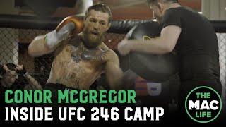 Conor McGregor works striking ahead of Donald Cerrone fight with Irish DJ on the decks