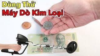 Lâm Vlog - Dùng Thử Máy Dò Kim Loại Trên Bờ Sông | Metal Detector