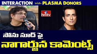 Nagarjuna interacts with plasma donors; reacts on his fitn..