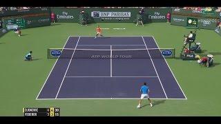 2015 Final Federer Hits Hot Shot