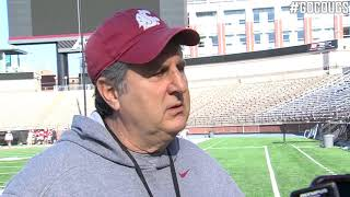 Mike Leach after practice 4/19