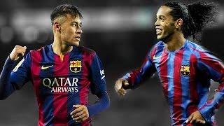 Neymar Jr vs Ronaldinho ● Best Skills ● FC Barcelona | HD