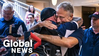 'The honour of my life': Jon Stewart speaks about his advocacy on behalf of 9/11 first responders