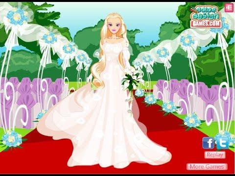 barbie bride dress up games