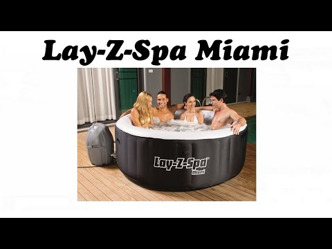 lay z spa miami portable hot tub inflatable jacuzzi style spa by bestway youtube. Black Bedroom Furniture Sets. Home Design Ideas