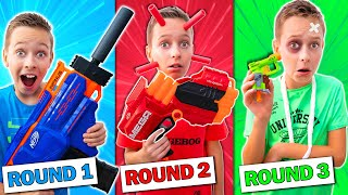 Last to Stand in ONE Color NERF Game Wins a Mystery Box