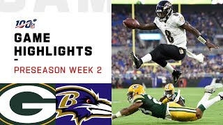 Packers vs. Ravens Preseason Week 2 Highlights | NFL 2019