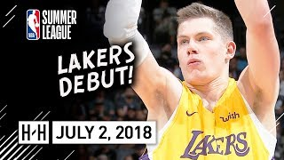 Moritz Wagner Full Lakers Debut Highlights vs Kings (2018.07.02) Summer League - 23 Pts, 7 Reb