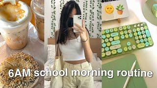 6AM PRODUCTIVE online school morning routine/vlog *high school*