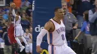 Russell Westbrook Dunks on Clint Capela! Posterized! James Harden Rockets vs Thunder
