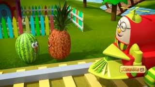 Learn about fruits on this adventure ride with Humpty the train