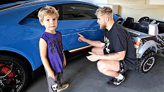 Tydus SCRATCHED Jake's Lambo! *HE GOT MAD*