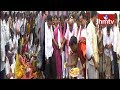 Foundation Laid for Construction of TRS Party Offices In Telangana | hmtv