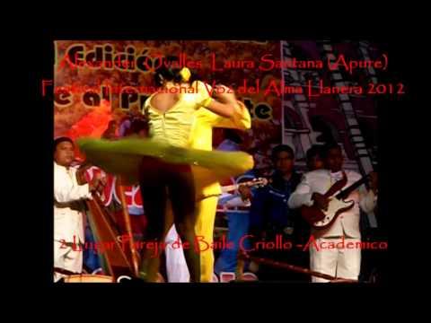 alex ovalles y laura santana 2 lugar baile de joropo festival alma llanera 2012
