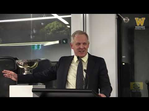 2018 Bruce Montgomery Trophy: John Lamont address and life membership