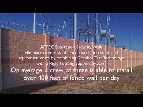Substation Security Walls- AFTEC Advanced Forming Technology