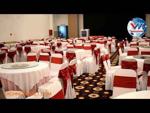 Hình ảnh thi công dự án vách ngăn di động nhà hàng tiệc cưới Thanh Tùng, Bình Dương