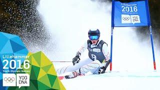 Giant Slalom - River Radamus (USA) wins Men's gold | Lillehammer 2016 Youth Olympic Games