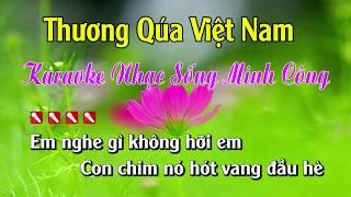Thương Qúa Việt Nam Karaoke Nhạc Sống