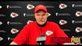 Andy Reid makes final comments before Chiefs head to LA to play Chargers