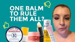 The best lip balm ever? Testing high end & cult favorite balms | gluten-free lip balms