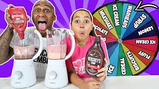 MYSTERY WHEEL OF MILKSHAKE SWITCH UP CHALLENGE!!