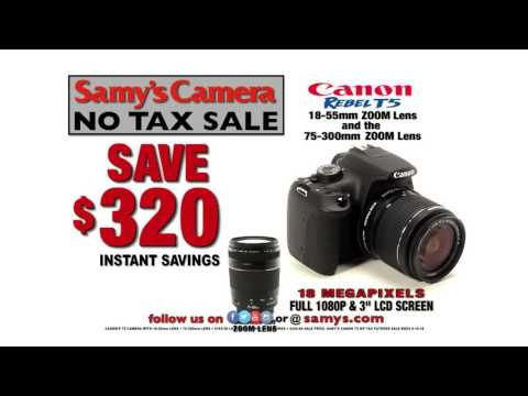 Great Deals on Canon Cameras at Samy's Camera No Tax Sale!
