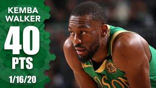 Kemba Walker drops 40 points in Celtics vs. Bucks   2019-20 NBA Highlights