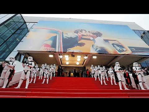 Stormtroopers provide security for Solo: A Star Wars Story
