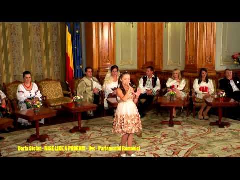 DARIA - RISE LIKE A PHOENIX - PARLAMENTUL ROMANIEI - LIVE - 10 YO