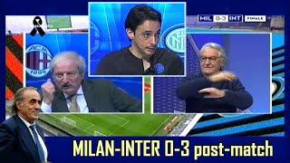 MILAN-INTER 0-3 post-match * CRUDELI: MAURO DA LASSÙ HAI ESAGERATO, NON POTEVAMO FARE ALMENO 3-3?