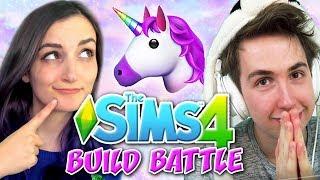 Sims 4 Build Battle VS Challenge!! (Unicorn Edition) w/ Oli