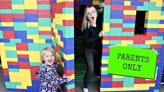 Parents Only GIANT LEGO FORT Escape Room!