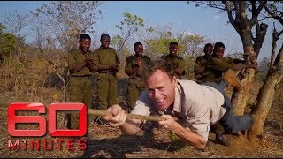 Aussie reporter attempts African rangers training exercise | 60 Minutes Australia