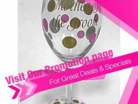 Personalized Wedding Party Wine Glasses - AdvantageBridal.com