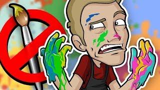 FINGER PAINTING Art Challenge - NO BRUSH ALLOWED!!