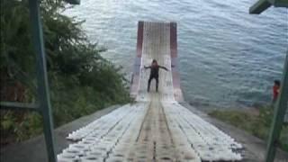Rampa de ski en lago