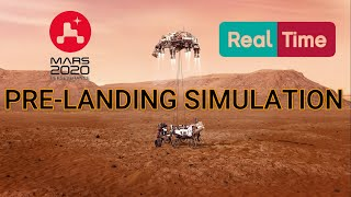 NASA's Mars 2020 Perseverance Rover Entry Descent Landing || Real-Time Pre-Landing Simulation