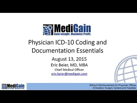 MediGain Clients  ICD 10 Coding and Documentation Essentials 8 13 15